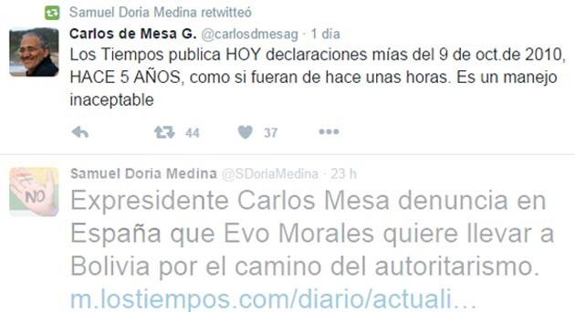 Twit retwit Doria Medina