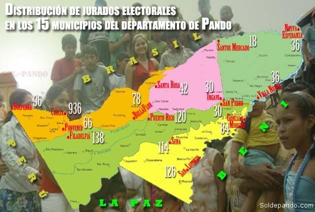 Mapa Jurados Electorales Pando