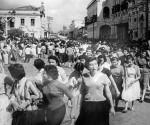 Dos décadas después del Primer Congreso Feminista, las mujeres de Santa Cruz salieron a  las calles en 1950 sumándose  alas reivindicaciones regionales del Oriente. | Foto en biografía de Elffy Albrecht Ibáñez