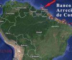 Este increíble sistema de arrecifes de coral abarca 9.300 kilómetros cuadrados en el territorio amazónico, comienza en la Guayana Francesa y se agota en los desemboques del río Marañón, en Brasil. | Fotomontaje Sol de Pando