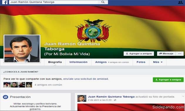 El pasado 30 de marzo, Quintana abrió por enésima vez una nueva cuenta de Facebook a su nombre, con muy pocos seguidores dentro la sociedad civil. | Foto captura