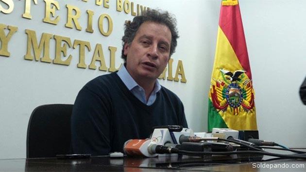 El ministro de Minería y Metalurgia César Navarro. | Foto Erbol