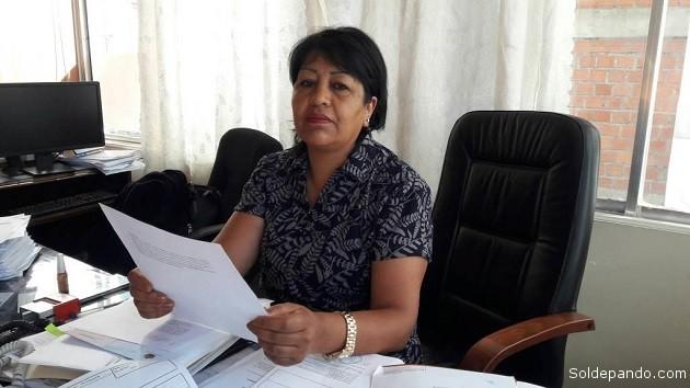 Mirtha Jiménez Bejar, ejecutiva de la Dirección de Registro, Control y Administración de Bienes Incautados (Dircabi). Digna y ejemplar servidora pública del Estado Plurinacional de Bolivia que preside Evo Morales.