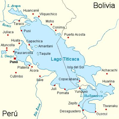 CRUZANDO EL TITICACA El estrecho de Tiquina se encuentra ubicado en el lago Titicaca en el lado boliviano de este, en el departamento de La Paz. Es una separación (o unión), de las dos masas de agua que conforman el lago Titicaca, la parte más grande en el norte llamado (Chucuito) y la más pequeña en el sur llamada (Huiñaymarca). Tiene una anchura de unos 780 metros, que puede ser cruzado fácilmente en barco de motor. Un servicio de balsas de pasajeros lo atraviesa permanentemente, y para las movilidades se utilizan pontones. Esta ruta es parte de la carretera que une la ciudad de La Paz y la ciudad costera de Copacabana.