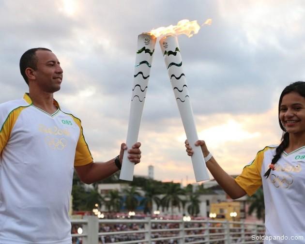 Jovem atleta Liriel Dara destacou a emoção de participar do evento | (Foto: Sérgio Vale