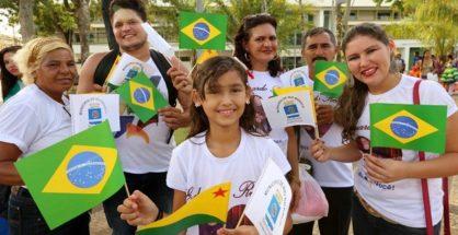 A população acreana apreciou com emoção o momento histórico na capital  | Foto Sérgio Vale