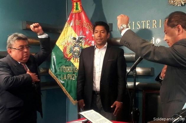 Rodolfo Illanes durante su posesión como Viceministro de Régimen Interior, el 16 de marzo de este año. | Foto ABI