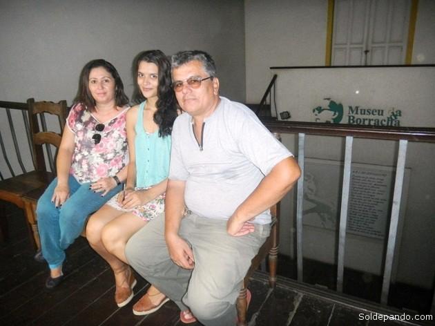 El personal del Museo de los Siringueros en el horario vespertino. | Foto Sol de Pando