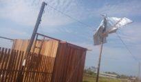 Así quedó el techo de una vivienda en Cobija. | Foto cortesía de Wilson Omar Coro Fernández