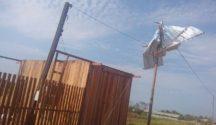 Así quedó el techo de una vivienda en Cobija.   Foto cortesía de Wilson Omar Coro Fernández