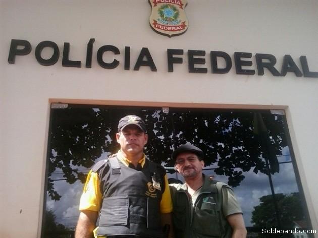 La tarde del 16 de mayo luego de obtener permiso y protección de la Policía Federal en Epitaciolandia para circular libremente por todo el territorio brasileño.   Foto Sol de Pando