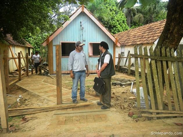 En la Casa de Chico Mendes, también en restauración, una acción municipal periódica para conservar por siempre los museos de Xapurí.   Foto Sol de Pando