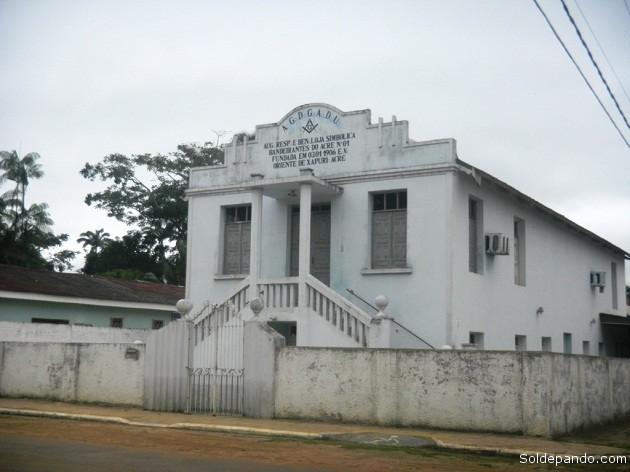 La casa de los masones de Xapurí. Su participación histórica fue decisiva durante el conflicto armado con Bolivia.   Foto Sol de Pando