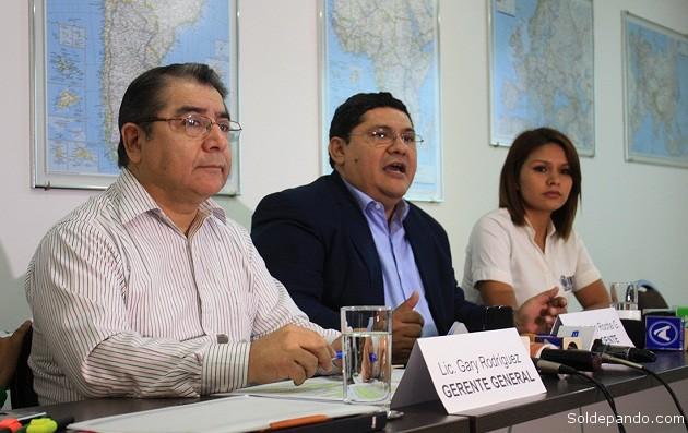 Ejecutivos del IBCE alertan sobre la espectacular caída de las exportaciones tradicionales de Bolivia. |Foto cortesía IBCE