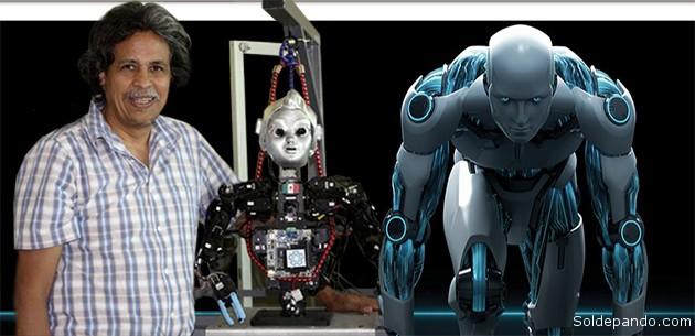 Eduardo Bayro Corrochano, el boliviano que está desarrollando una robótica humanoide pionera en Latinoamérica. | Fotomontaje Sol de Pando