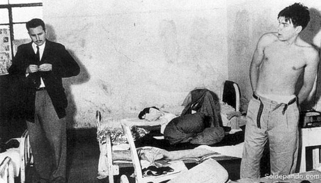 Fidel Castro y el Che Guevara recluidos en una cárcel mexicana, cuatro meses antes de emprender la expedición del Granma. | Foto archivo Sol de Pando