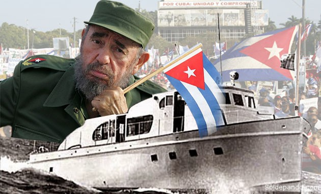 Fidel murió ayer 25 de noviembre a los 90 años. Tenía 30 cuando inició la Revolución Cubana junto al Che, precisamente partiendo de Veracruz, México, hacias las costas de su país a bordo del Granma, el 25 de noviembre de 1956. | Fotomontaje Sol de Pando